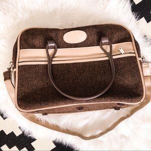 Vintage tweed travel bag